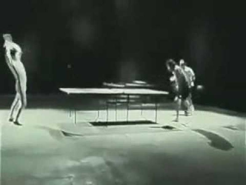 Bruce Lee And Nunchuck Ping Pong!