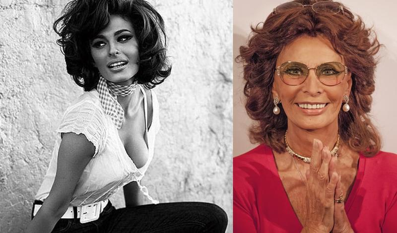 Sophia Loren, Then And Now: Young And Old Photos